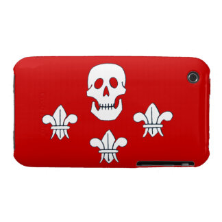 JOLLY ROGER SKULL AND THREE LILIES FLAG Case-Mate iPhone 3 CASES