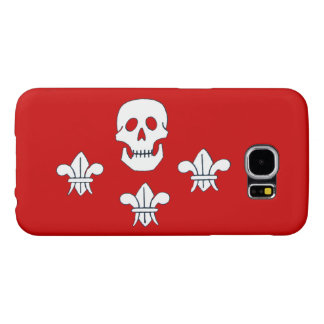 JOLLY ROGER SKULL AND THREE LILIES FLAG SAMSUNG GALAXY S6 CASES