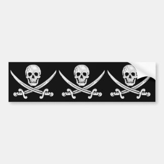 Jolly Roger Skull Bumper Sticker