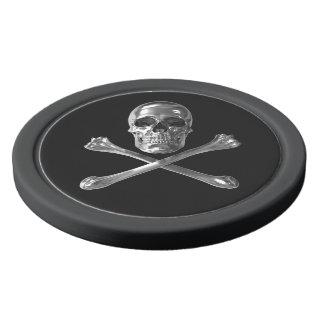 Jolly Roger Skull Clay Poker Chips