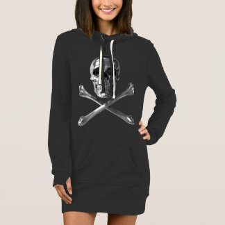 Jolly Roger Skull Hoodie Dress