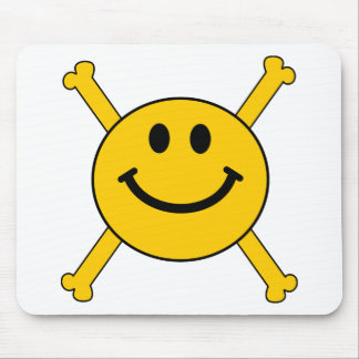 jolly roger smiley face mouse pad