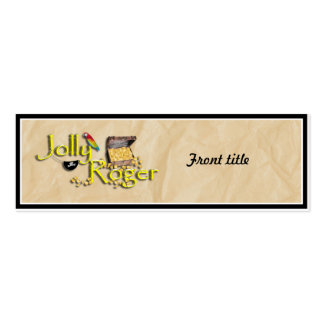 Jolly Roger Text w/Pirate's Treasure Chest Business Card