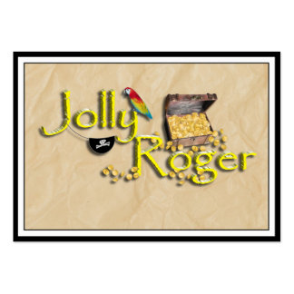 Jolly Roger Text w/Pirate's Treasure Chest Pack Of Chubby Business Cards