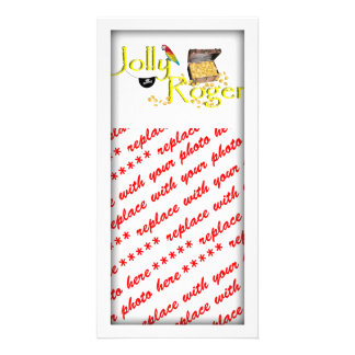 Jolly Roger Text w/Pirate's Treasure Chest Photo Cards