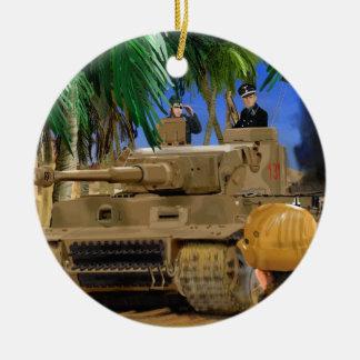 JOLLY ROGER TIGER TANK. CHRISTMAS ORNAMENT