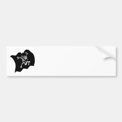 Jolly Roger Waving Pirate Flag Bumper Sticker