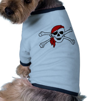 Jolly roger with red bandana pet clothes