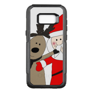Jolly Santa and Reindeer #1 OtterBox Commuter Samsung Galaxy S8+ Case