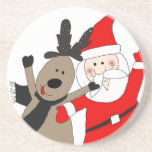 Jolly Santa and Reindeer Coaster
