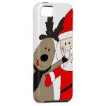 Jolly Santa and Reindeer iPhone 5 Case