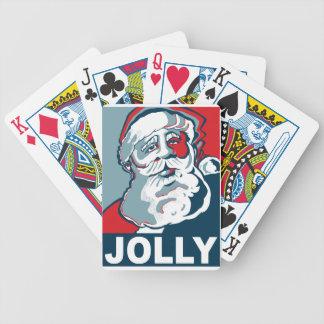 Jolly Santa Bicycle Playing Cards