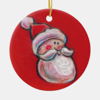jolly santa christmas ornament (part of set)