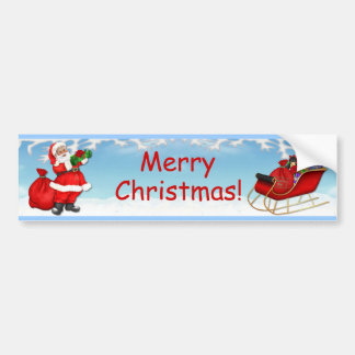 Jolly Santa Claus Bumper Sticker