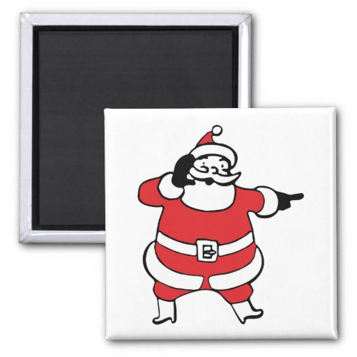 Jolly Santa Claus Calling His Reindeer, Part 3 Fridge Magnets