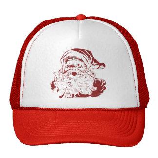 Jolly Santa Claus in Red Fun Retro Merry Christmas Cap