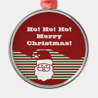 Jolly Santa Claus Premium Round Ornament