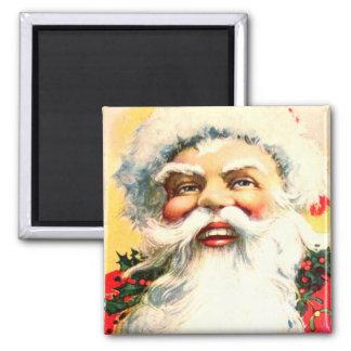Jolly Santa Claus Square Magnet
