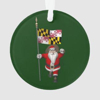 Jolly Santa Claus Visiting Maryland