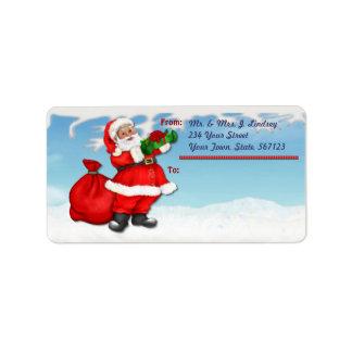 Jolly Santa Mailing Label
