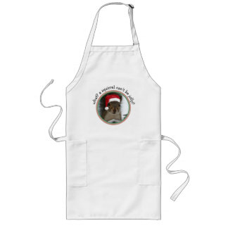 Jolly Santa Squirrel Fun Christmas Dinner Long Apron