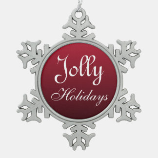 Jolly Snowflake Ornament
