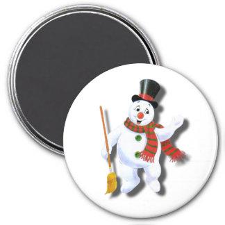 Jolly Snowman 7.5 Cm Round Magnet