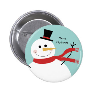 Jolly Snowman Christmas 6 Cm Round Badge