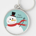 Jolly Snowman Christmas Keychains