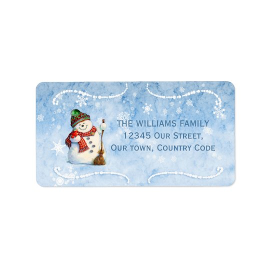 Jolly Snowman LBJa Address Label