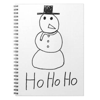 Jolly Snowman Notebook
