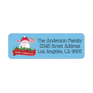 Jolly Snowman Return Address Labels