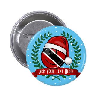 Jolly Trinidad Flag Christmas Style 6 Cm Round Badge