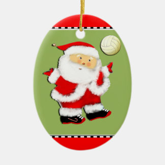 Jolly Volleyball Collectible Christmas Ornament