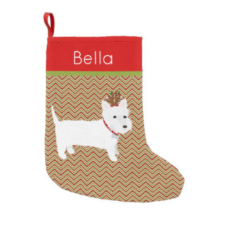 Jolly West Highland Terrier Small Christmas Stocking