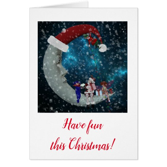 Jolly & Whimsical Children's Christmas Card