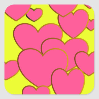 Jolly Yellow Sweetheart Stickers