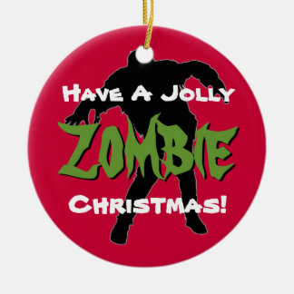 Jolly Zombie Christmas Custom Ornament