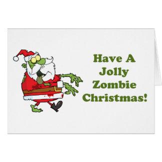 Jolly Zombie Christmas Greeting Card