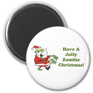 Jolly Zombie Christmas Refrigerator Magnet