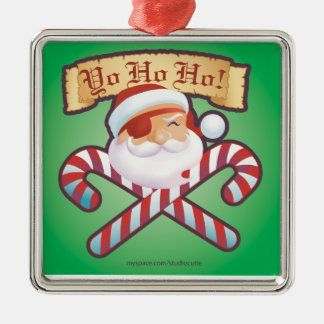 JollySanta Ornament-Square Christmas Ornament