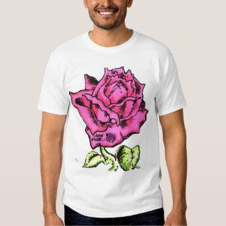 Jon Cade Animation Styled Pink Rose T Shirt