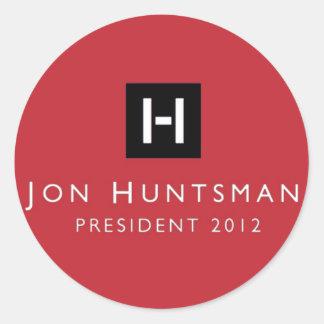 Jon Huntsman 2012 President Round Sticker