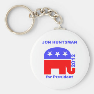 Jon Huntsman Basic Round Button Key Ring
