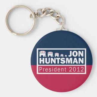 Jon Huntsman President 2012 Republican Elephant Basic Round Button Key Ring