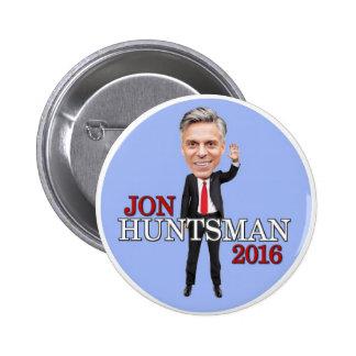 Jon Huntsman President 2016 6 Cm Round Badge