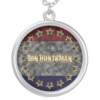 Jon Huntsman Stars and Stripes Round Pendant Necklace