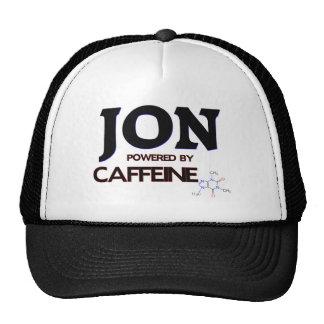 Jon powered by caffeine trucker hat