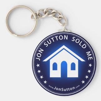 Jon Sutton Sold Me Basic Round Button Key Ring