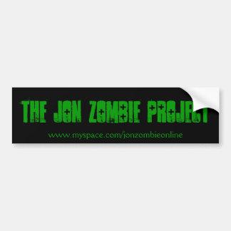 Jon Zombie Project sticker Car Bumper Sticker
